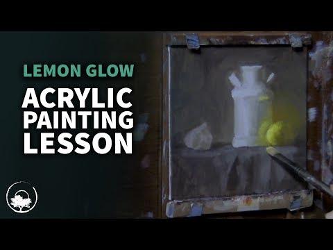 Lemon Glow - Acrylic Painting Lesson