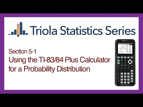TI 83/84 Section 5-1: Using the TI-83/84 for a Probability Distribution