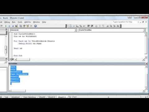Excel VBA Basics #30 How to Loop Through Each Worksheet in Workbook