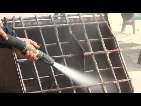 Dustless Blasting Mortar and Concrete