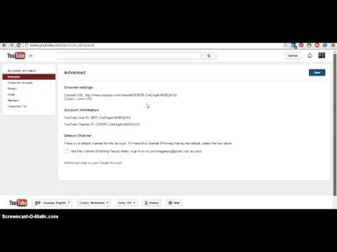 How to change the URL for your YouTube Channel into a Custom URL- Name your channel