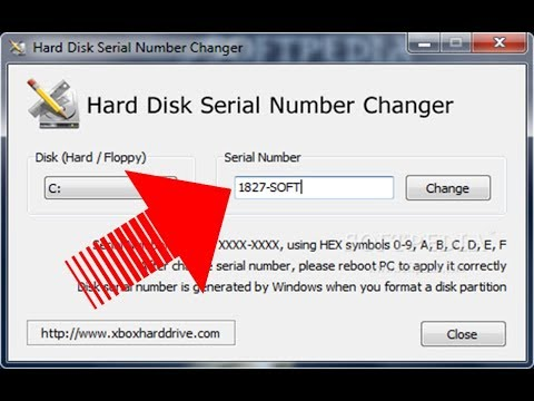How to change your HDD serial number?
