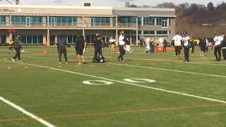 Le'Veon Bell, Steelers RBs practice with Ben Roethlisberger