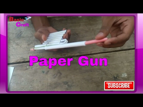 How to Make a paper gun that shoots paper bullets easy