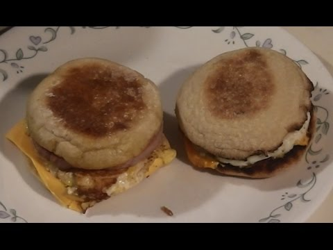 Homemade Egg McMuffin vs Mc'D Egg McMuffin side by side