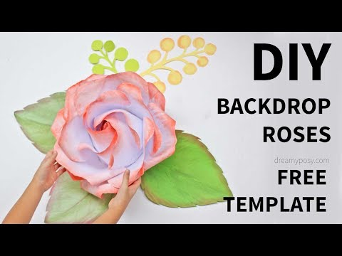 [FREE template]: How to make large/giant paper rose