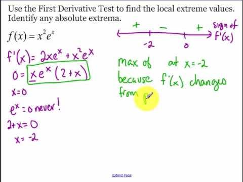 5.3 - Day 1 - First Derivative Test (2017)