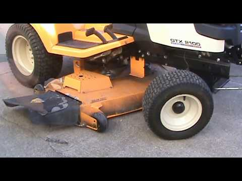 Cub Cadet GTX 2100 belt configuration and belt pulley replacement