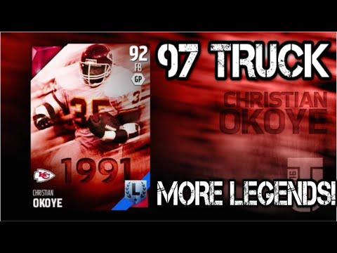 Madden 16 Ultimate Team | 97 TRUCK RATING CHRISTIAN OKOYE! PLUS MORE MUT 16 LEGENDS!