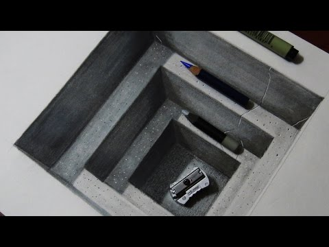 How to Draw a Realistic Concrete Hole - Amazing Trick Art for Kids and Adults
