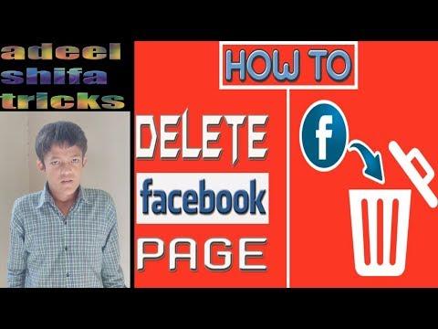 how to delete facebook page tutorial hindi/urdu