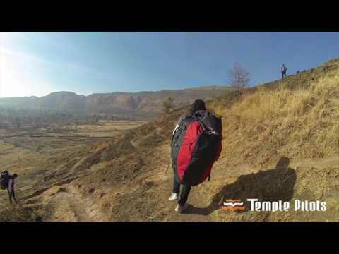 Jotsna learning to fly with Temple Pilots Paragliding at Kamshet!!