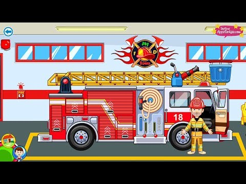 My Town 🚒 Fire Station Rescue Game 🚁 Top Best Apps For Kids