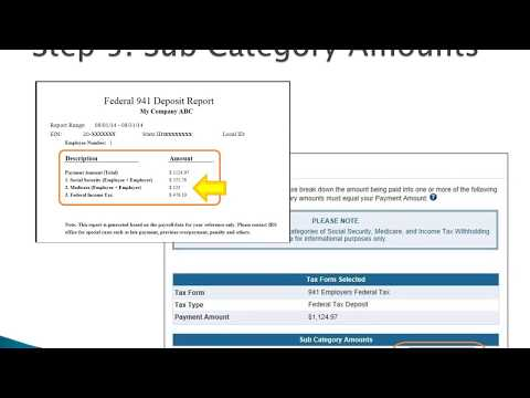 How to Make 941 Federal Tax Deposit Using EFTPS Site