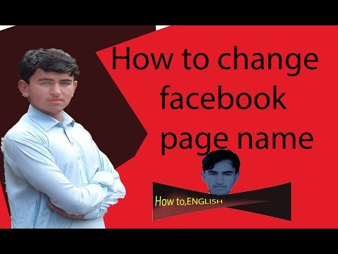 HOw to change facebook page name latest videos /HOW TO,ENGLISH