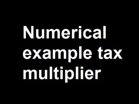 Numerical example tax multiplier