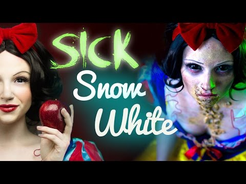 SICK SNOW WHITE Makeup Tutorial - Glam & Gore Disney Princess