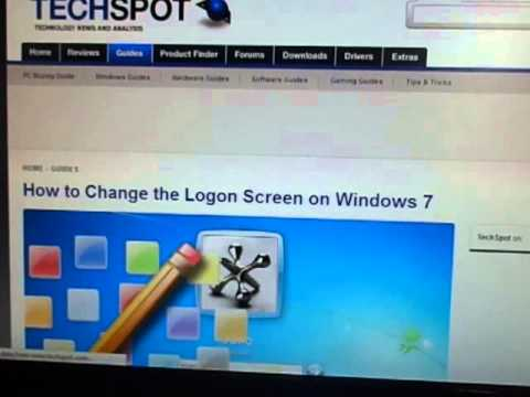 How to Change the Logon Screen on Windows XP,7,vista