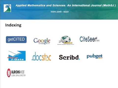 Applied Mathematics & Sciences: An International Journal (MathSJ )