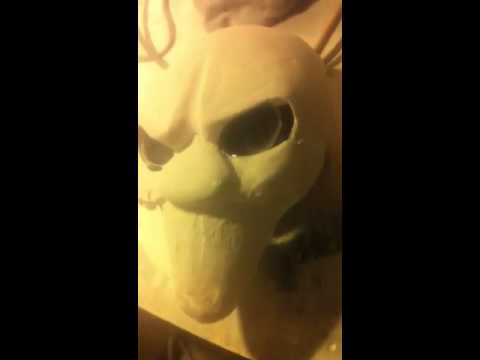 Milders Masks Clown in his early stages of development