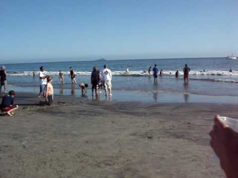 Taking Nana to see the ocean at Hotel Del Coronado Beach - San Diego
