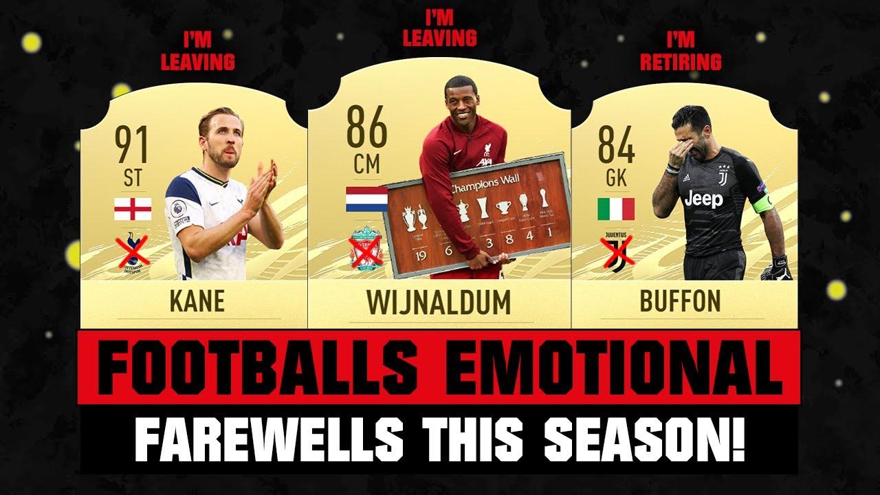 FOOTBALLERS EMOTIONAL Farewells! 😱🔥 ft. Wijnaldum, Aguero, Kane, Buffon...