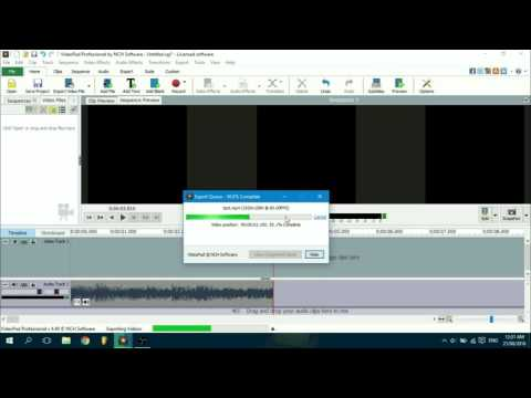 How to disable fade out effect at the end of sequence on VideoPad Editor
