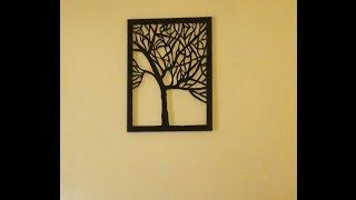 Amazing DIY canvas tree cut-out (wall art home decor idea)