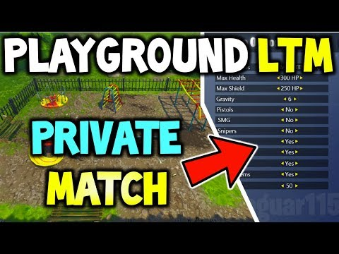 FORTNITE *NEW* PLAYGROUND LTM COMING SOON! - (PRIVATE MATCHES WITH UNLIMITED RESPAWNS + RELEASE DATE