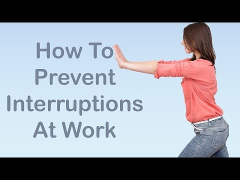 Time Management Skills - How To Prevent Interruptions At Work