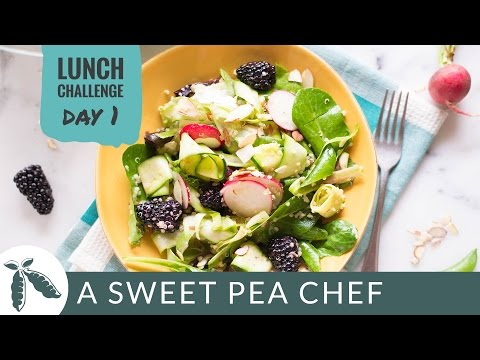 DAY 1: Spring Grains & Greens Salad with Honey Lemon Vinaigrette   A Sweet Pea Chef