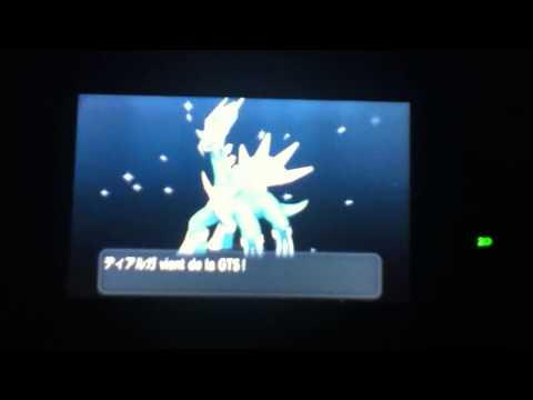 Pokemon Y: GTS Funny trade(Dialga Shiny) WTF!!!!!!!!!!!