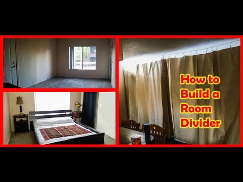 How To Build A Curtain Room Divider - Tiny Home Living