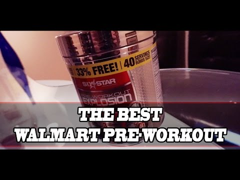Six Star Pre-Workout Explosion Review | The best pre-workout to buy at Walmart????