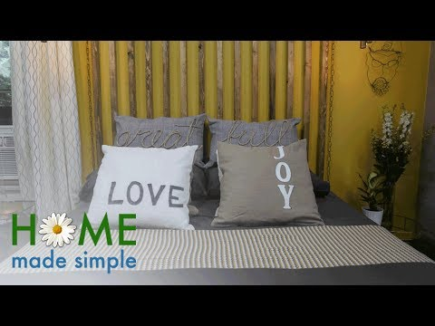 Make Your Own Accent Pillows In Less Than An Hour | Home Made Simple | Oprah Winfrey Network