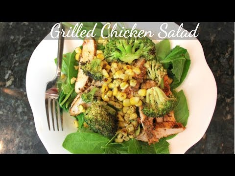 Spinach & Grilled Chicken Salad Recipe: Easy Chicken Dinner Recipes