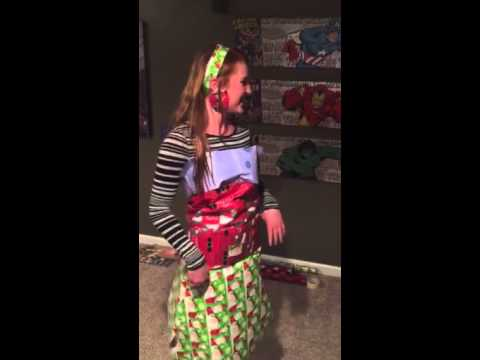 Wrapping Paper Fashion Show!