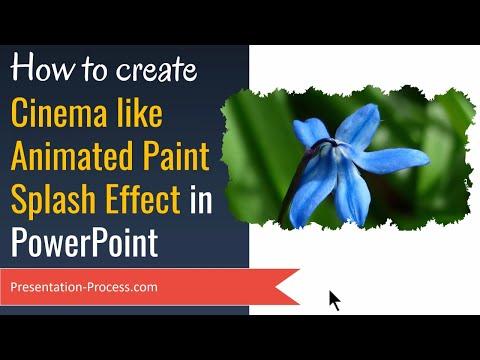 PowerPoint Animation with Cinema like Paint Splash Effect