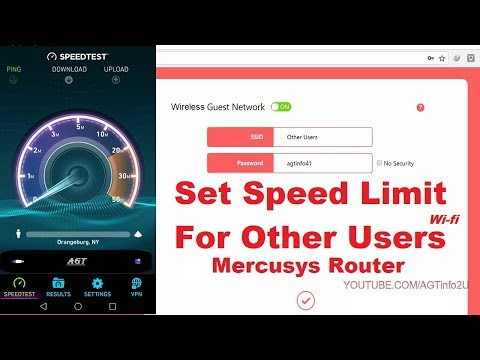 Mercusys Router set speed limit for other wifi users (guest network wireless settings)