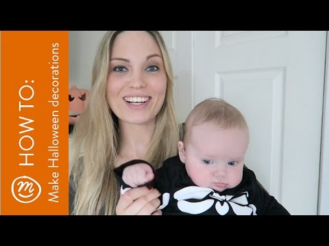 3 easy Halloween decorations with a sharpie | HOW TO with Channel Mum