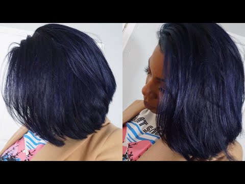 PERUVIAN STRAIGHT MIDNIGHT BLUE FRONTAL BOB WIG⎮ALI KLAIYI HAIR REVIEW