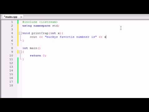 Buckys C++ Programming Tutorials - 10 - Creating Functions That Use Parameters