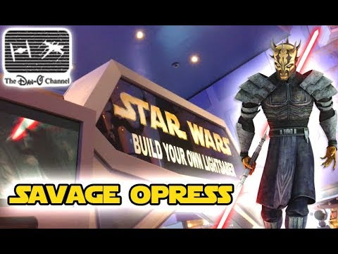 Star Wars  Build your own Savage Opress Lightsaber at Disneyland    The Dan-O Channel