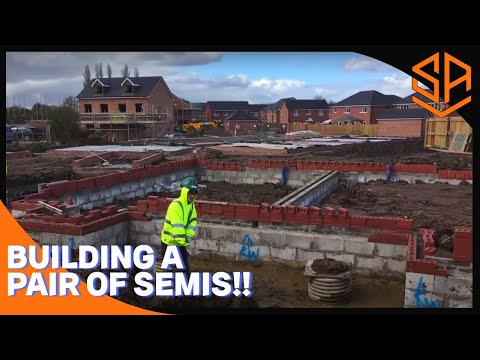 Bricklaying with Steve and Alex    FOUNDATION CONSTRUCTION START TO FINISH