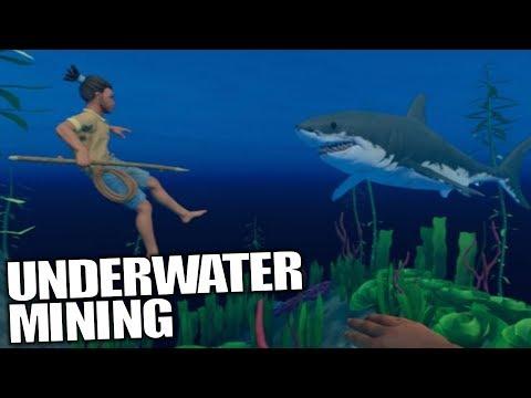 UNDERWATER MINING + WET & DRY BRICK | Raft | Let's Play Gameplay | S02E03