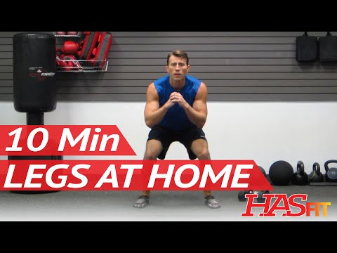 HASfit 10 Minute Leg Workout Exercises - Best Legs Exercises at Home at Home Leg Workout Men & Women