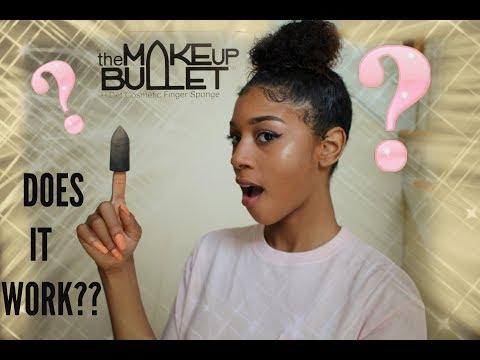 Trying The Makeup Bullet : Review and Demo   A FINGER SPONGE /Finger beauty blender?!