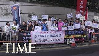 Defying China, A Pro-Independence Activist Speaks At Hong Kong