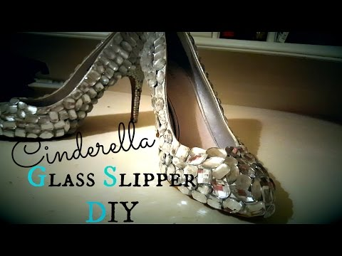 Make Your Own: CINDERELLA GLASS SLIPPERS