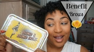 Benefit: Defined & Refined Brows |First Impression +Demo|
